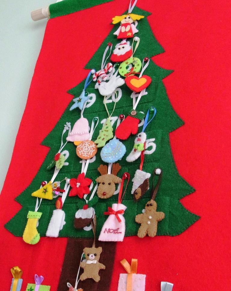 Felt Christmas Advent Calendar No60 PDF Pattern Felt New Felt Christmas Tree Pattern