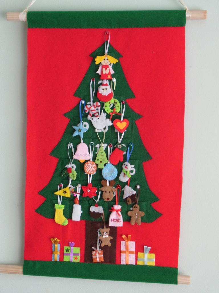 Felt Christmas Advent Calendar no.18 ---PDF pattern--- | Felt