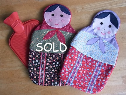 Matryoshka Hot Water Bottle Cover