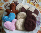 Felt food  *cookies* no.02 ---PDF pattern---
