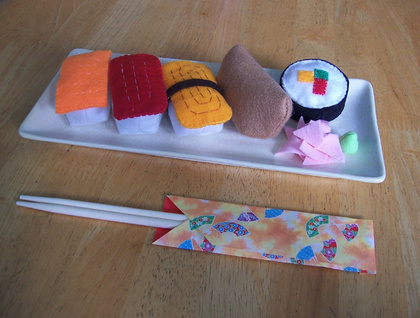 Felt food  *sushi* no.03  ---PDF pattern---