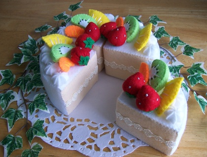 Felt food *fruit cake * no.01 ---PDF pattern---
