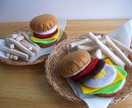 Felt food *hamburgers and chips*  no.05 ---PDF pattern---