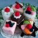 Felt food *Set of Six Cakes*  no.11 ---PDF Patterns---