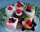 Felt food *Set of Six Cakes*  no.11 ---PDF Patterns---