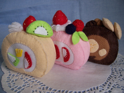 Felt food *Roll Cakes* ---Pattern---  no.08