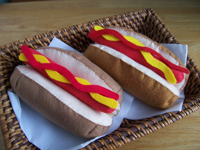 Felt food *Hot dogs* ---Pattern---