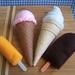 Felt food *Ice Creams* no.13 ---Pattern---