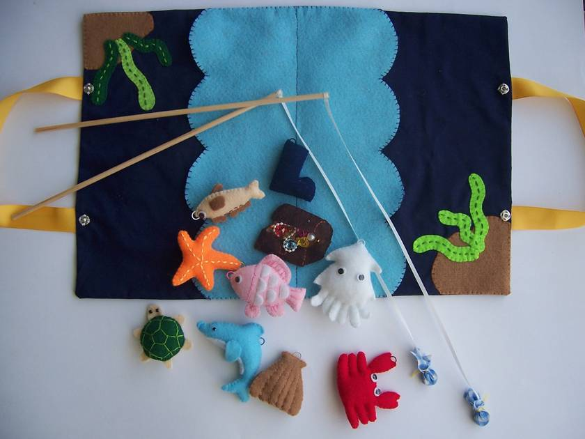 # NEW # Felt toy *Going Fishing* no.14 ---PDF Pattern---