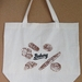 """""""Bakery""""  Screen Printed Cotton Tote Bag, Reusable Grocery Bag, Eco Friendly Shopper Tote, Farmers Market"""