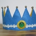 felt crown   *** green stone ***