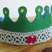 felt crown   *** PINK STONE ***
