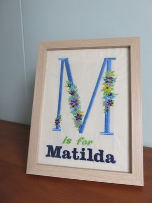 Personalised Embroidery Initial / Name