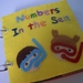 Felt quiet / activity book *numbers in the sea*no.17 ---PDF Patterns--- -