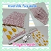 Reversible Fabric Face Mask --- pleated ---