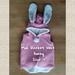 NZ Vintage Wool Blanket Vest  (size:2) '' Bunny ''