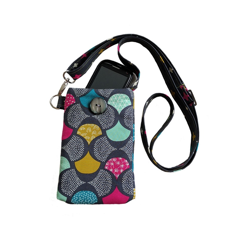 Padded phone purse, with adjustable shoulder strap
