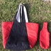 Tote bag and matching wine bottle carrier