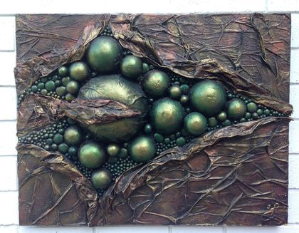 """Green Fissure Explosion"" Sculpture/3DPainting"