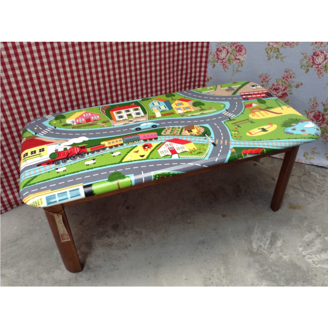 Road map oil cloth coffee table felt Coffee table tablecloth
