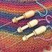 Threading hook with 1 inch yarn gauge