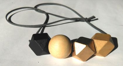 Wooden bead necklace...