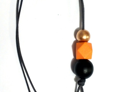 "Vertical drop bead necklace...""Shades of Autumn"""