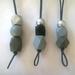 "Vertical drop bead necklace...""Grey Series"""