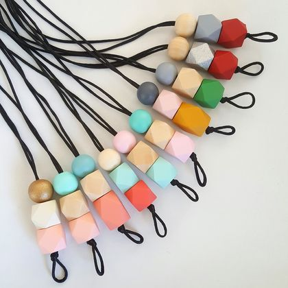 Vertical drop bead necklace...