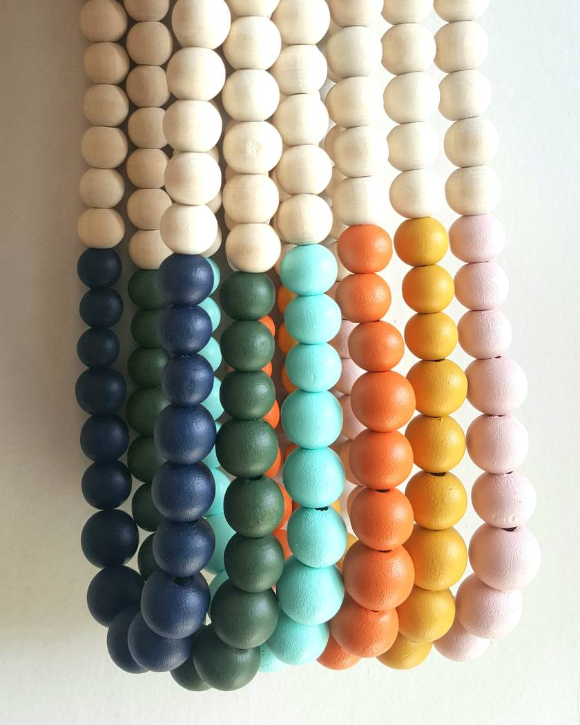 Wooden bead, dipped style necklace