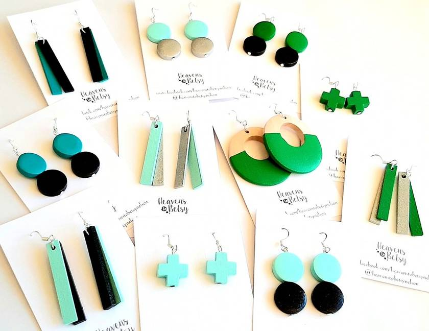 Wooden earrings - various styles.