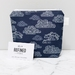 Navy Blue Clouds Makeup Bag / cosmetic bag / toiletry bag