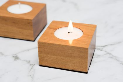Rimu Tea Light Candle Holder