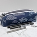 Navy Clouds Box Pencil Case