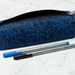 Blue and Black Flecked Pencil Case