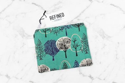 Small Zippered Pouch - Forest