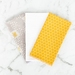 Cotton Hanky Set - Mustard Grey