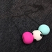 SALE Fuschia, Marine Blue + Monochrome Dot Beads