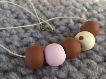 SALE Pink, brown and polka beads sale
