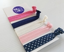 On-trend Hairties - Pink and navy