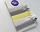 On-trend Hairties - Greys and yellow