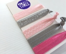 On-trend Hairties - Pinks and grey