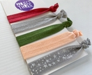 On-trend Hairties - Khaki, burgundy, blush, grey