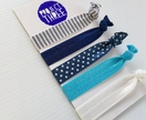 On-trend Hairties - Blues and grey