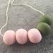 Rose quartz + khaki beads