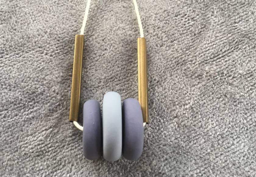 Violets + Brass Beads