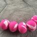 Fuschia Marble Beads