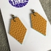 Kite vegan leather earrings - small mustard