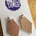 Kite vegan leather earrings - small rose gold