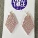 Kite vegan leather earrings - small metallic pink